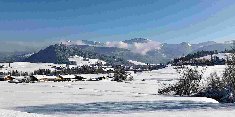 Winterlandschaft Oberstaufen im Allgäu