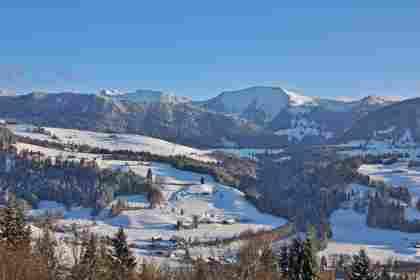 Hochgrat im Winter in Oberstaufen