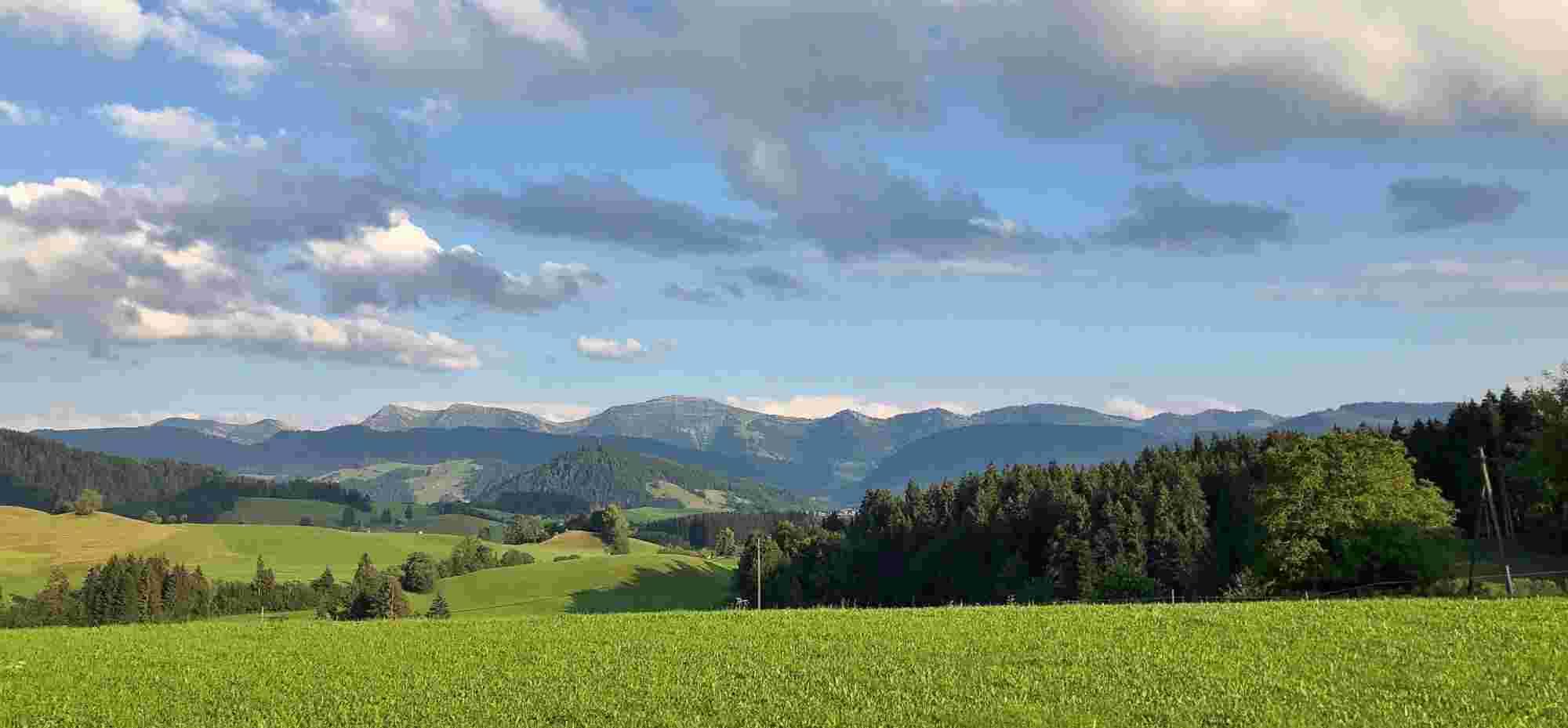 Nagelfluhkette und Oberstaufen im Allgäu