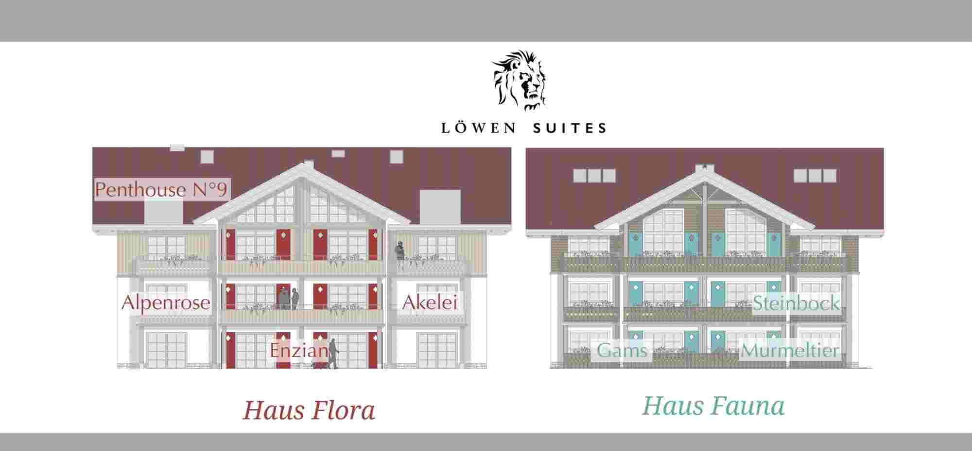 Die Ferienwohnungen Löwen Suites im Bayerischen Hof in Oberstaufen, Lageplan