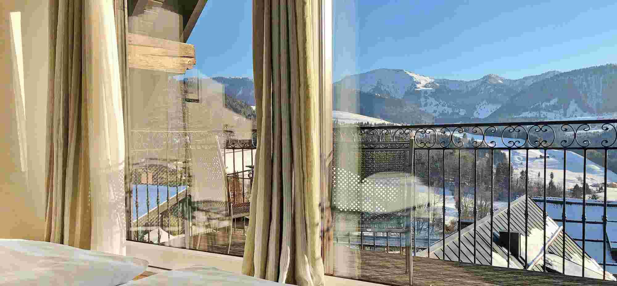 Hotel Bayerischer Hof Oberstaufen-Blick auf Hochgrat