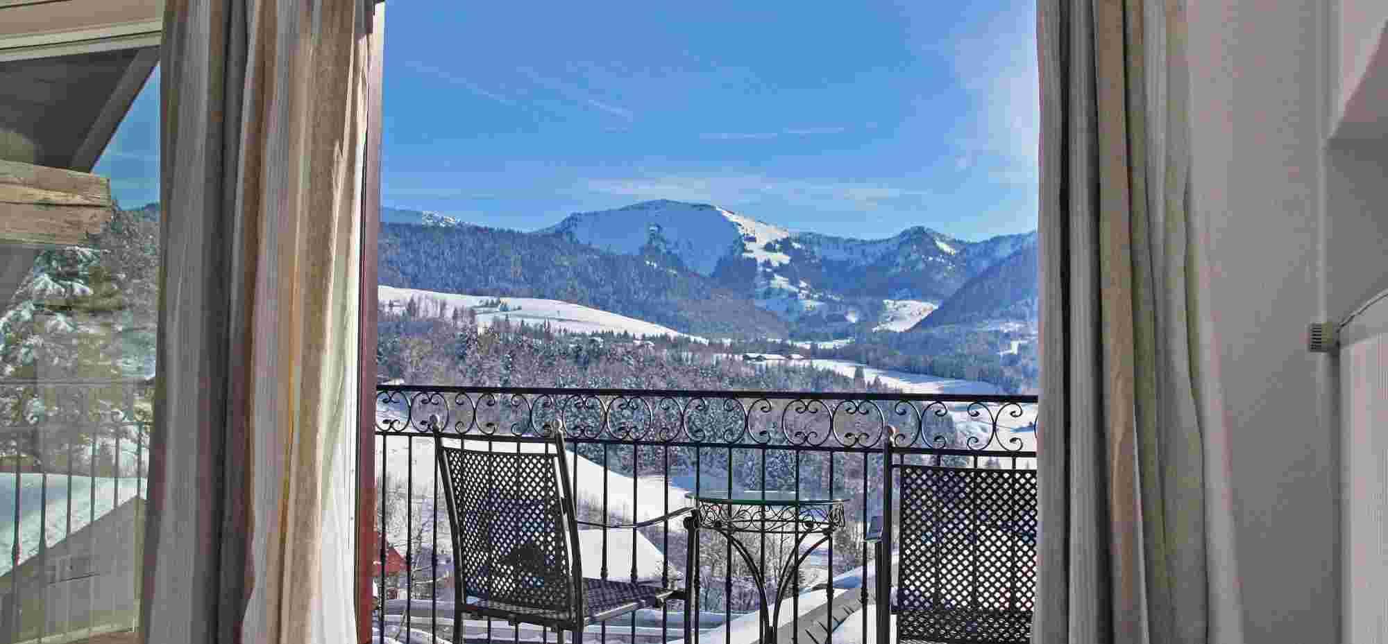 Hochgrat Suite im Bayerischen Hof, Oberstaufen, im Winter
