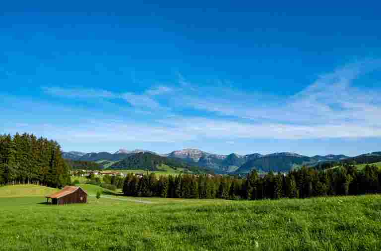 Allgäuer Landschaft bei Oberstaufen