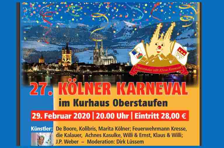 Koelner Karneval in Oberstaufen