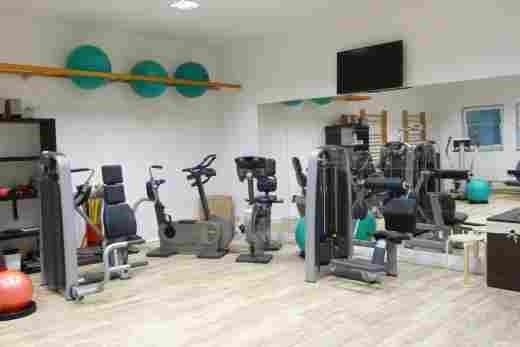 Fitnessraum im Hotel Bayerischer Hof Oberstaufen