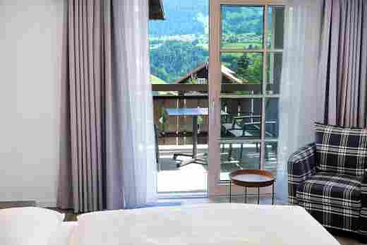 Balkon am Schlafzimmer, Ferienwohnung Gams, Bayerischer Hof in Oberstaufen