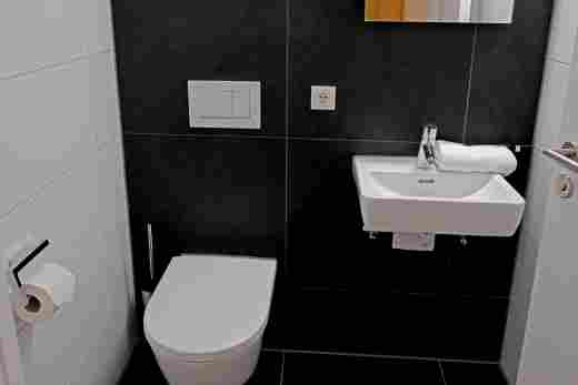 Separates WC in der Ferienwohnung Gams im Bayerischen Hof und den Löwen Suites