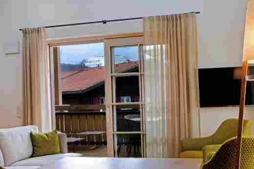 Blick auf Hochgrat im Penthouse Nr.9 , Ferienwohnung im Bayersichen Hof in Oberstaufen