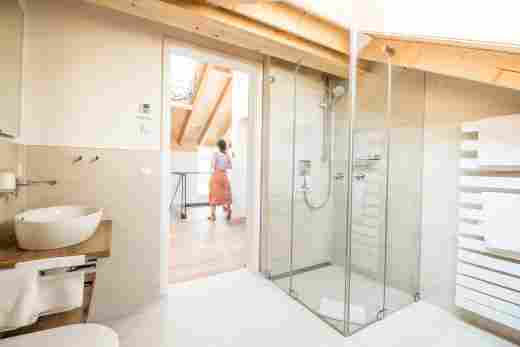 Badezimmer im Penthouse Nr. 9, Ferienwohnung im Bayerischen Hof in Oberstaufen