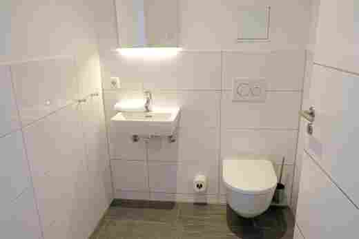 Separates WC in der Ferienwohnung Steinbock im Bayerischen Hof Oberstaufen, Löwen Suites