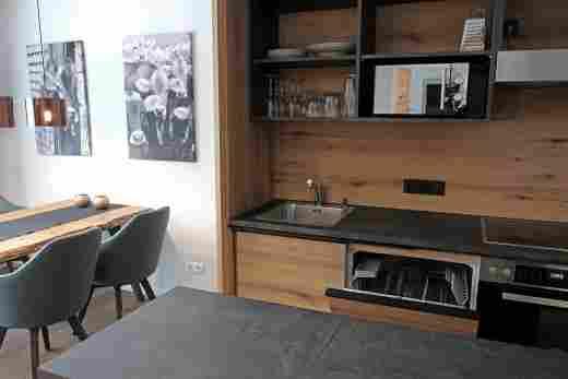 Löwen Suites im Bayersichen Hof Oberstaufen, Haus C, Wohnung 02, Küche
