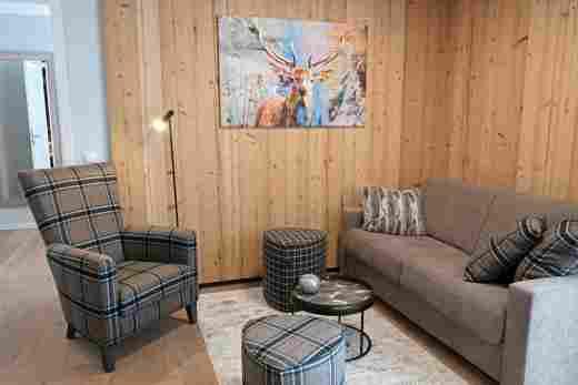 Löwen Suites im Bayersichen Hof Oberstaufen, Haus C, Wohnung 02, Sitzecke
