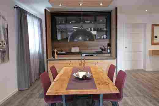 Wohnung C06, Löwen Suites im Bayerischen Hof in Oberstaufen, Küche