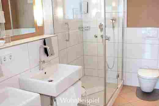 Badezimmer in der Panorama Junior Suite im Bayerischen Hof in Oberstaufen